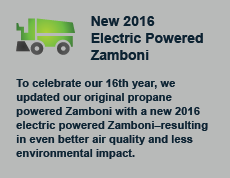 To celebrate our 16th year, we updated our original propane powered Zamboni with a new 2016 electric powered Zamboni�resulting in even better air quality and less environmental impact.